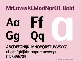 MrEavesXLModNarOT Bold Version 1.000;PS 001.000;hotconv 1.0.57;makeotf.lib2.0.21895图片样张