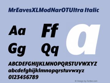 MrEavesXLModNarOTUltra Italic Version 1.000;PS 001.000;hotconv 1.0.57;makeotf.lib2.0.21895图片样张