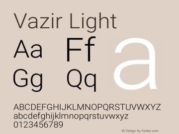 Vazir Light Version 4.4.1 Font Sample