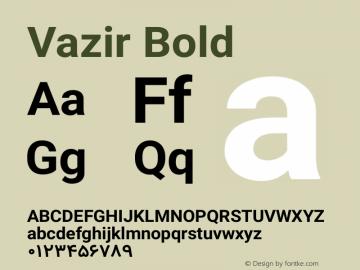 Vazir Bold Version 4.4.1 Font Sample
