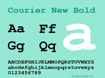 Courier New Bold MS core font:v2:00图片样张