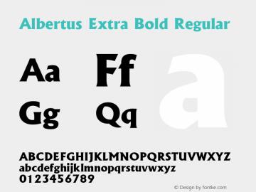 Albertus Extra Bold Font Family Albertus Extra Bold-Serif
