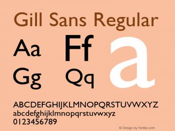 Gill Sans Regular Version 2.0 - Lotus - April 13, 1995 Font Sample