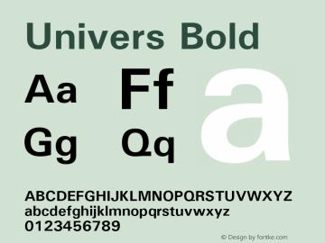 Univers Bold Version 1.3 (Hewlett-Packard)图片样张
