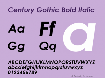 CENTURY GOTHIC DOWNLOAD FOR BLACKBERRY FONT