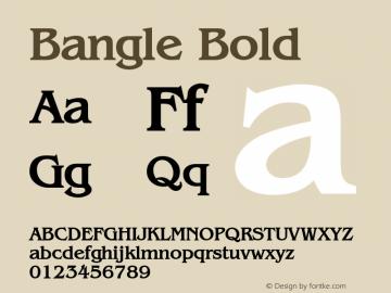 Bangle Bold Altsys Fontographer 4.1 1/27/95 Font Sample