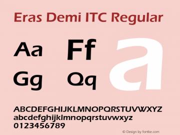 Eras Demi ITC Regular Version 1.00图片样张