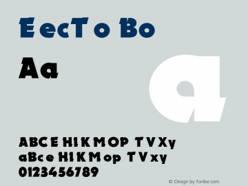 Electron Bold 001.000 Font Sample