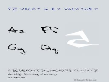 FZ WACKY 58 EX WACKY58EX Version 1.000 Font Sample
