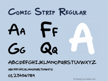 Comic Strip Regular Version 1.00 Font Sample