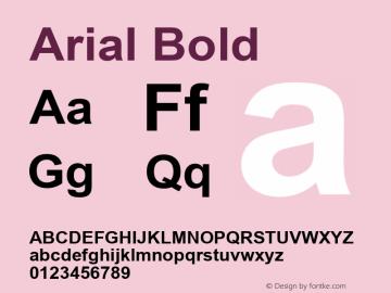 Arial Bold Version 6.84 Font Sample
