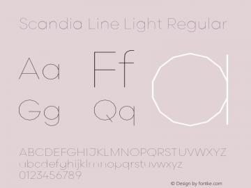 Scandia Line Light Regular Version 2.000;PS 1.0;hotconv 1.0.79;makeotf.lib2.5.61930图片样张