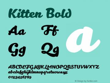 Kitten Bold Version 1.000 Font Sample