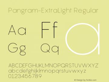 Pangram-ExtraLight Font Family Pangram-ExtraLight