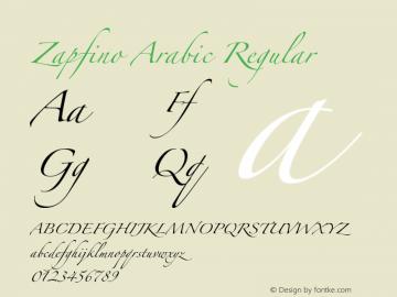 Zapfino Arabic Regular Version 1.00 Font Sample