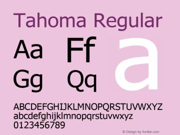 Tahoma Regular Version 5.20 October 31, 2016 Font Sample