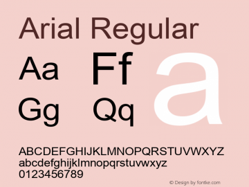 Arial Regular Version 5.20 November 1, 2016 Font Sample