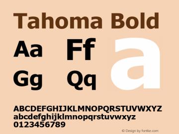 Tahoma Bold Version 5.20 October 28, 2016 Font Sample