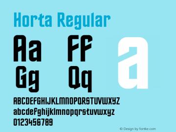 Horta Regular Version 0.10 Font Sample