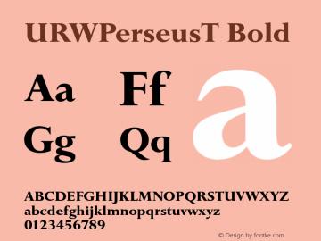 URWPerseusT Bold Version 001.005 Font Sample