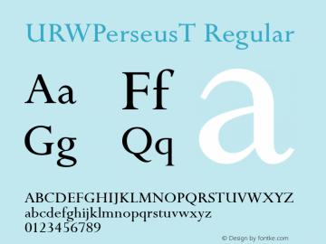 URWPerseusT Regular Version 001.005图片样张