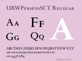 URWPerseusSCT Regular Version 001.005 Font Sample