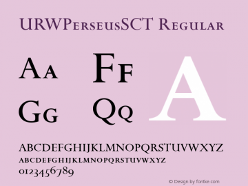 URWPerseusSCT Regular Version 001.005图片样张