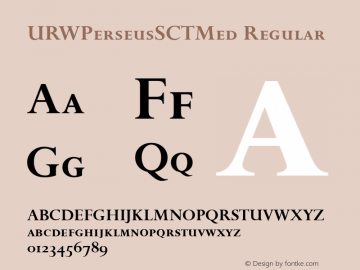 URWPerseusSCTMed Regular Version 001.005 Font Sample