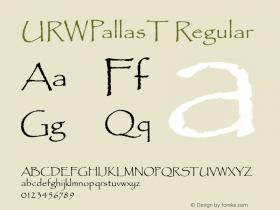 URWPallasT Regular Version 001.005图片样张