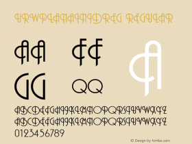 URWPlanaIniDReg Regular Version 001.005 Font Sample
