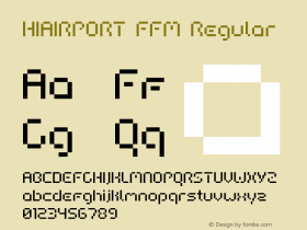 HIAIRPORT FFM Regular Macromedia Fontographer 4.1.5 06.07.2000 Font Sample