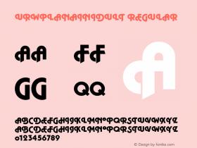 URWPlanaIniDUlt Regular Version 001.005 Font Sample