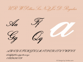 URWPolluxScrNo2JoiD Regular Version 001.005 Font Sample