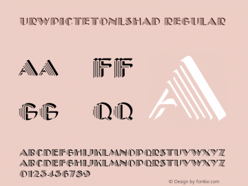 URWPictetOnlShaD Regular Version 001.005 Font Sample
