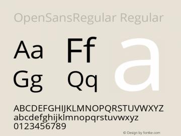 OpenSansRegular Regular Version 1.10 Font Sample