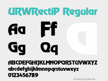 URWRectiP Regular Version 001.005图片样张