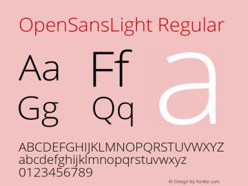 OpenSansLight Regular Version 1.10 Font Sample