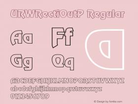 URWRectiOutP Regular Version 001.005 Font Sample
