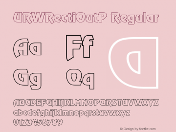 URWRectiOutP Regular Version 001.005 Font Sample