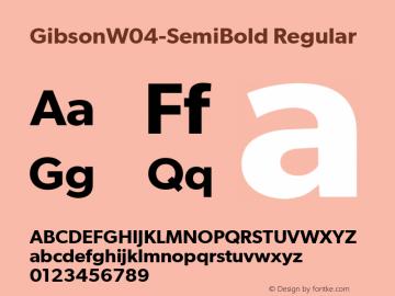 GibsonW04-SemiBold Regular Version 1.00 Font Sample
