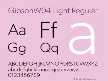 GibsonW04-Light Regular Version 1.00图片样张