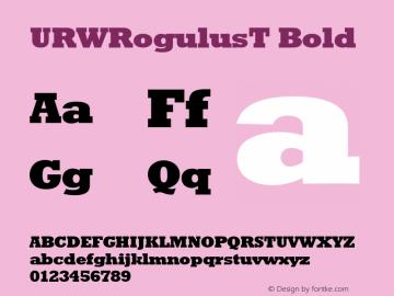 URWRogulusT Bold Version 001.005 Font Sample