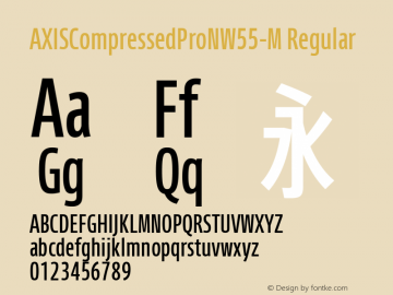 AXISCompressedProNW55-M Regular Version 1.00 Font Sample