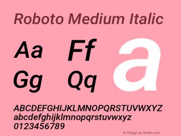 Roboto Medium Italic Version 2.135; 2016图片样张