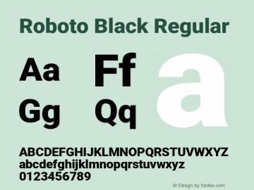 Roboto Black Regular Version 2.135; 2016图片样张