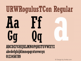 URWRogulusTCon Regular Version 001.005 Font Sample
