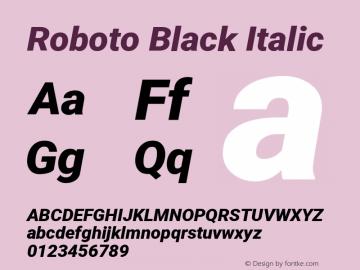 Roboto Black Italic Version 2.135; 2016图片样张