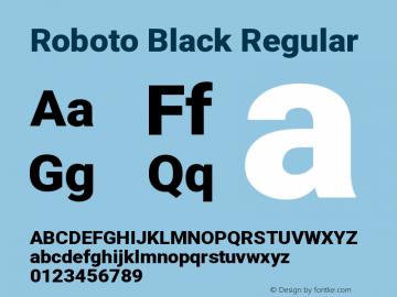 Roboto Black Regular Version 2.135图片样张