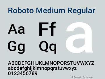 Roboto Medium Regular Version 2.135图片样张