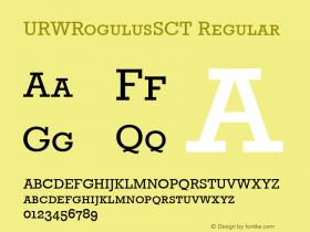URWRogulusSCT Regular Version 001.005图片样张